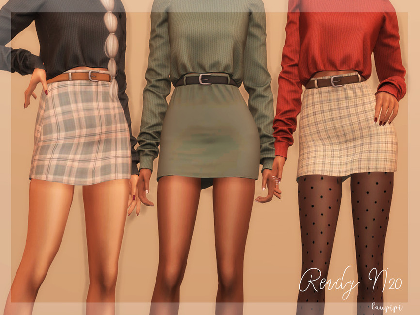 Юбка Skirt (Fall Collection) - BT364 Симс 4