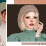 Женская шапка Симс 4