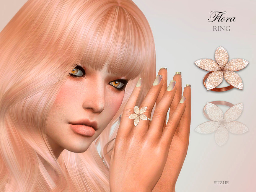 Женские кольца Симс 4