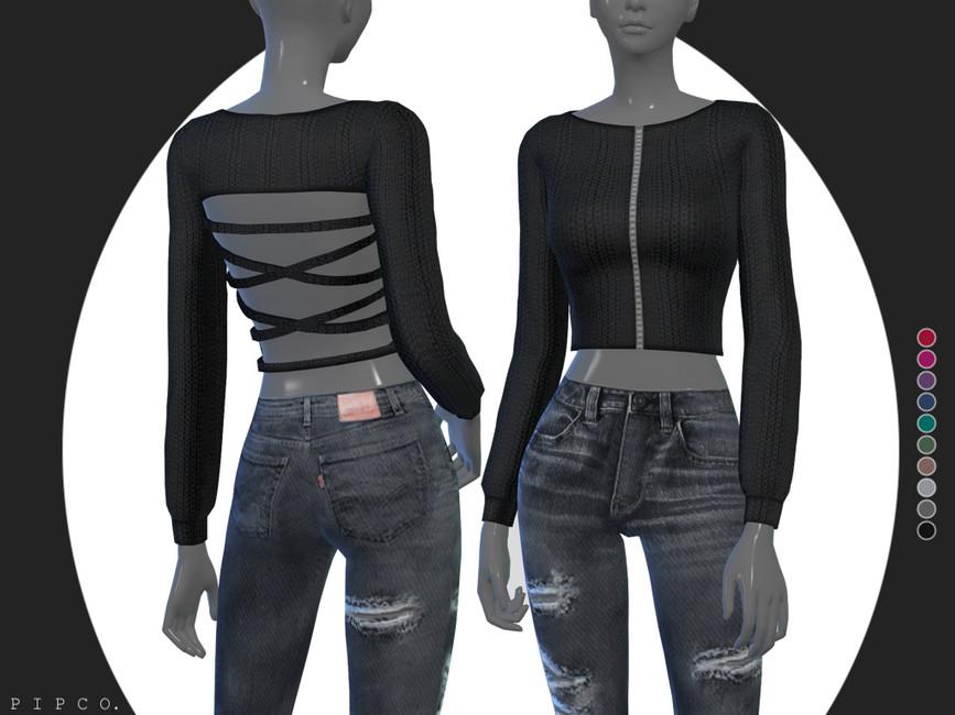 Женский свитер для Симс 4