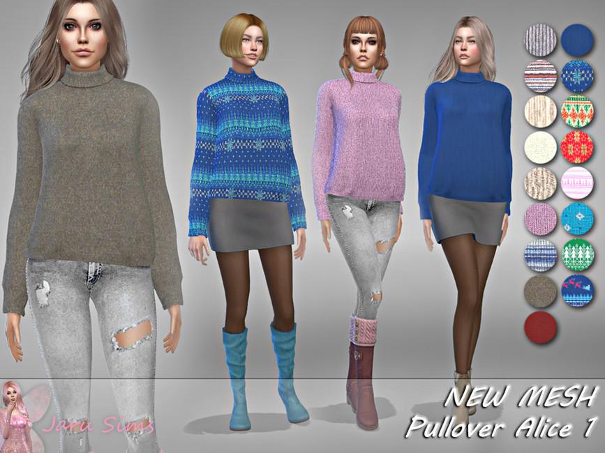 Зимняя одежда Симс 4