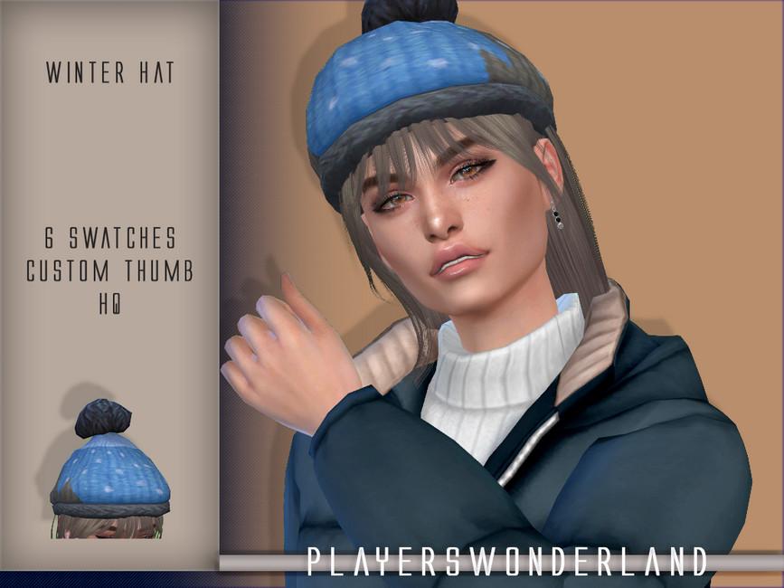 Зимняя шапка Симс 4