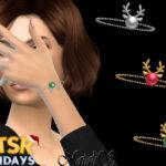 Браслет Xmas Reindeer Bracelet Симс 4