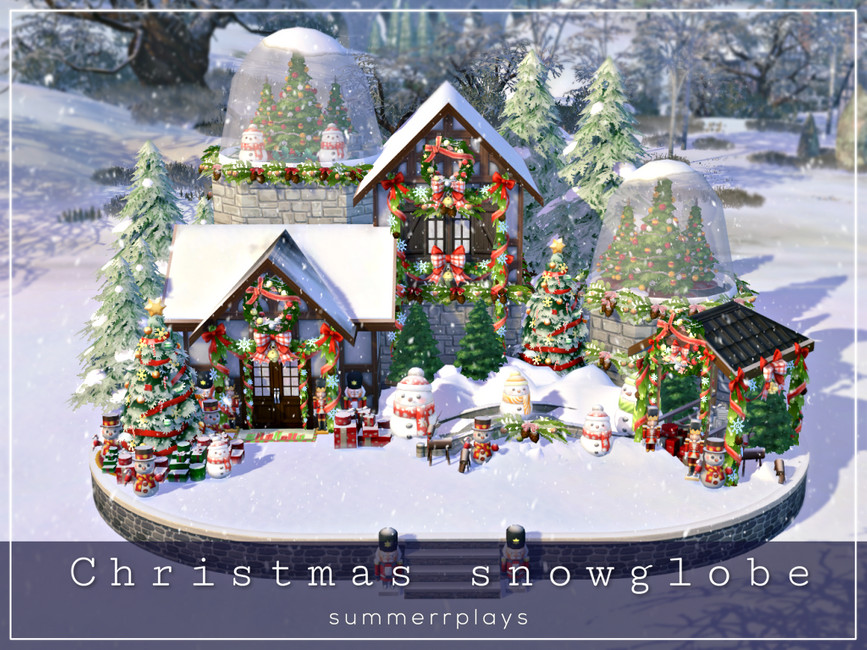 Дом на Рождество Симс 4