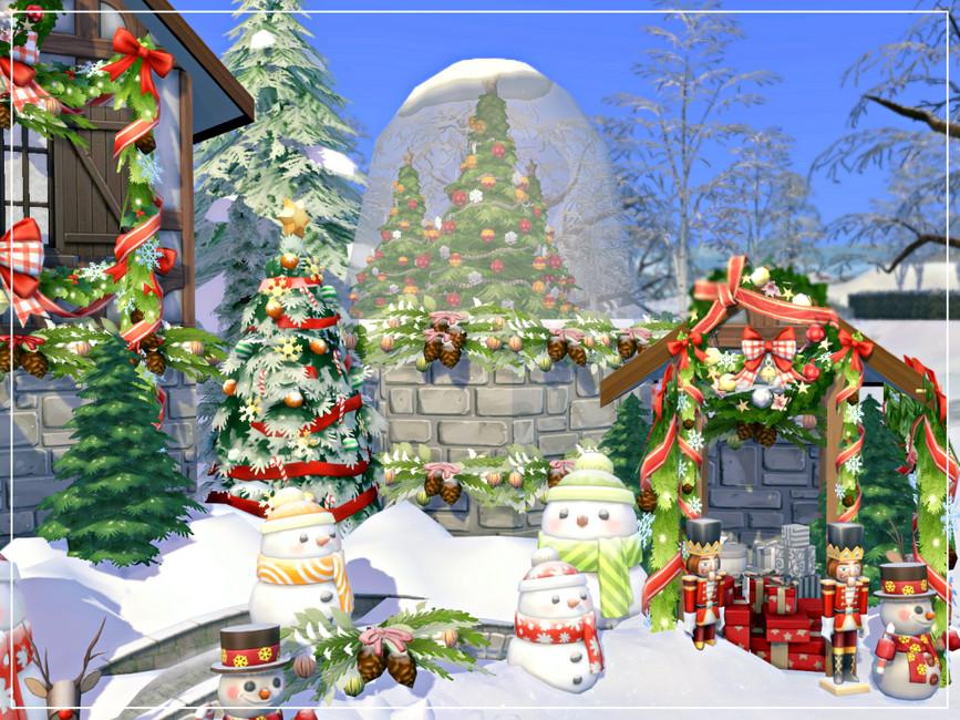 Дом на Рождество Симс 4 (картинка 4)