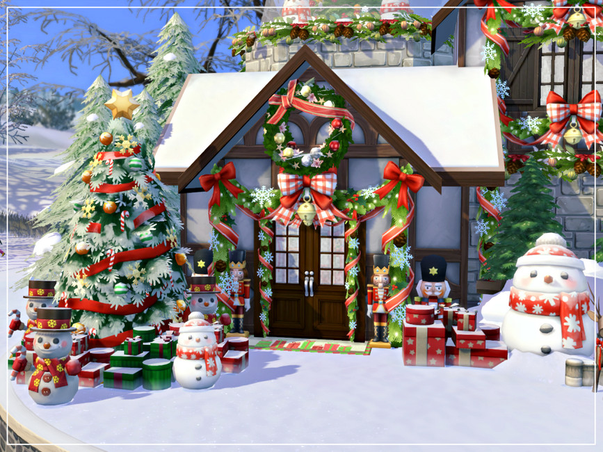 Дом на Рождество Симс 4 (картинка 5)
