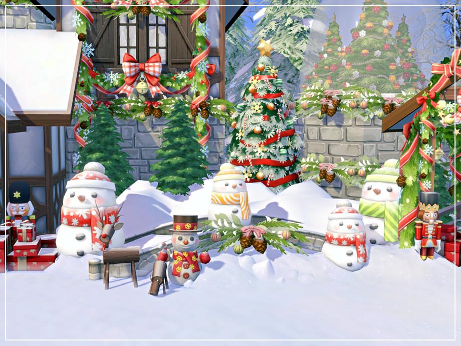 Дом на Рождество Симс 4 (картинка 6)