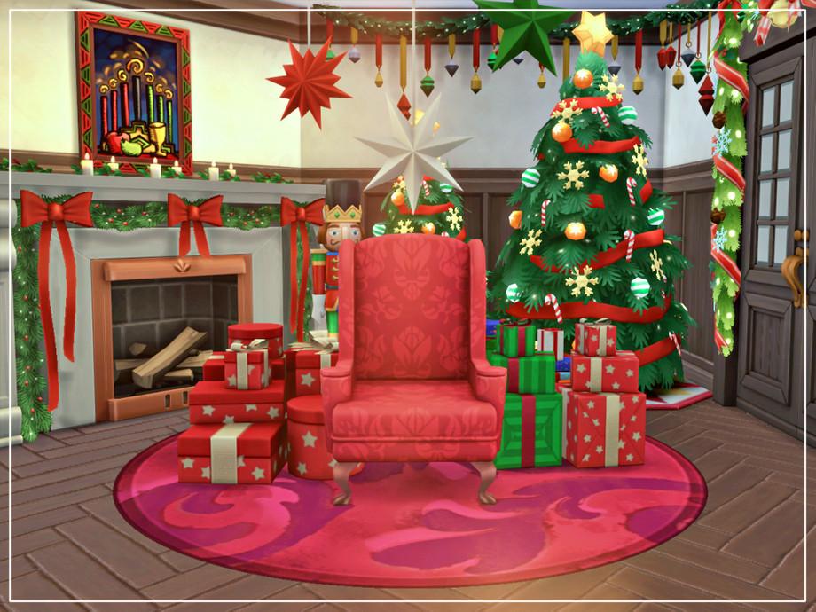 Дом на Рождество Симс 4 (картинка 7)