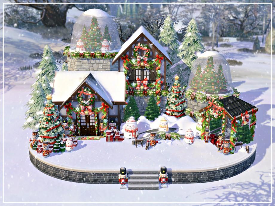 Дом на Рождество Симс 4 (картинка 8)