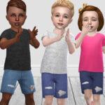 Джинсовые шорты для малышей Симс 4