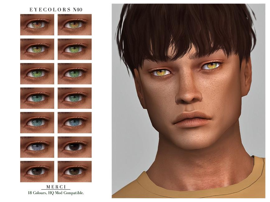 Глаза для парней Симс 4