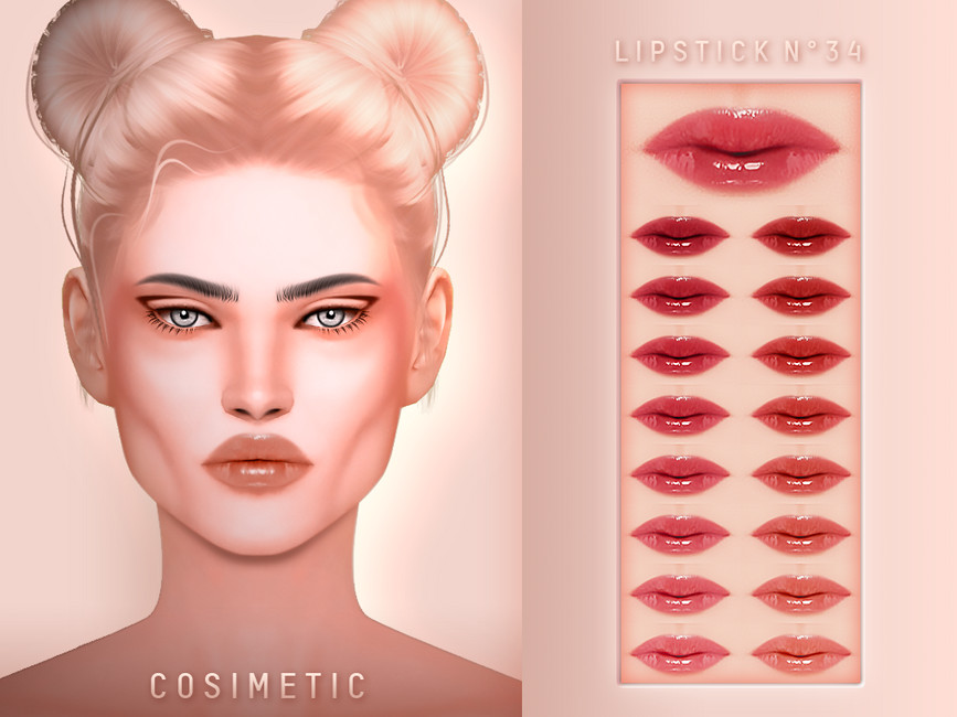 Губная помада Lipstick N34 для Симс 4