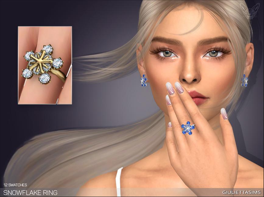 Кольцо Snowflake Ring Симс 4