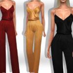 Комбинезон Female Silk Overalls Симс 4