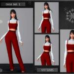 Комплект одежды Симс 4