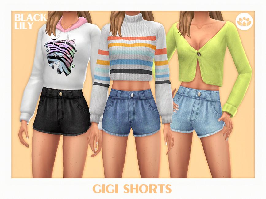 Короткие шорты Симс 4
