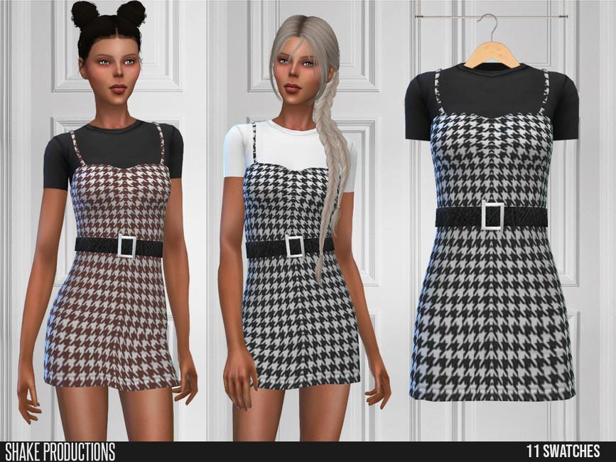 Короткое платье для Симс 4