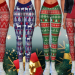 Легинсы Female Xmas Leggings Симс 4