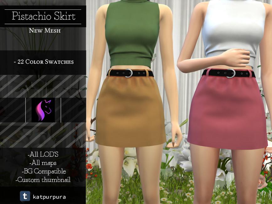 Мини юбки для Симс 4