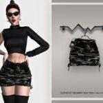 Мод короткая юбка Симс 4