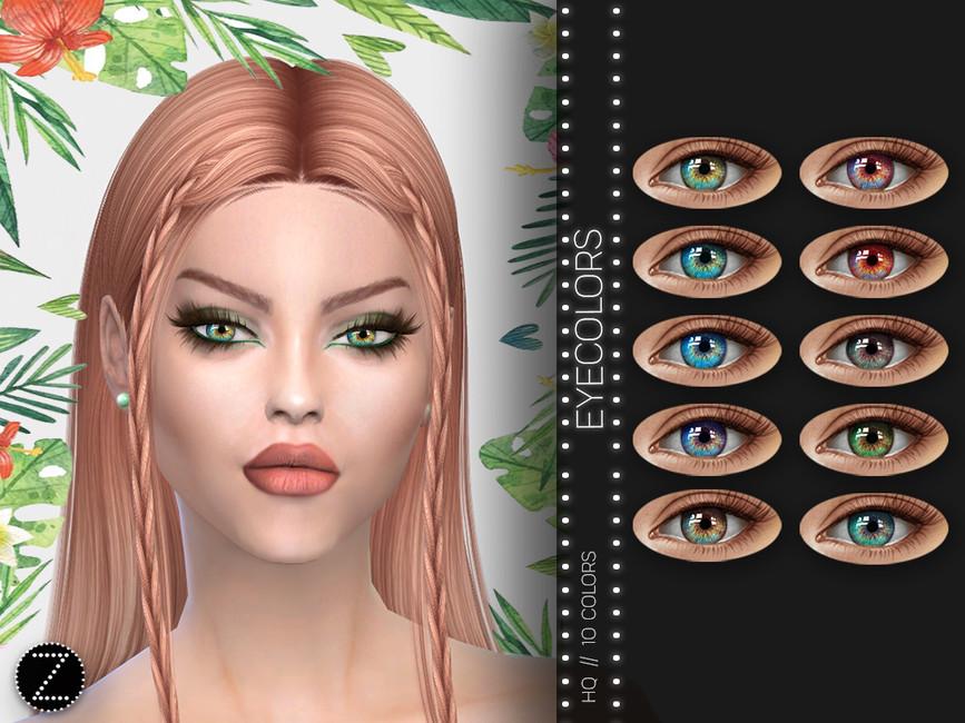 Мод на цвет глаз Симс 4