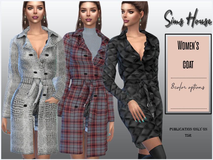 Моды пальто Симс 4