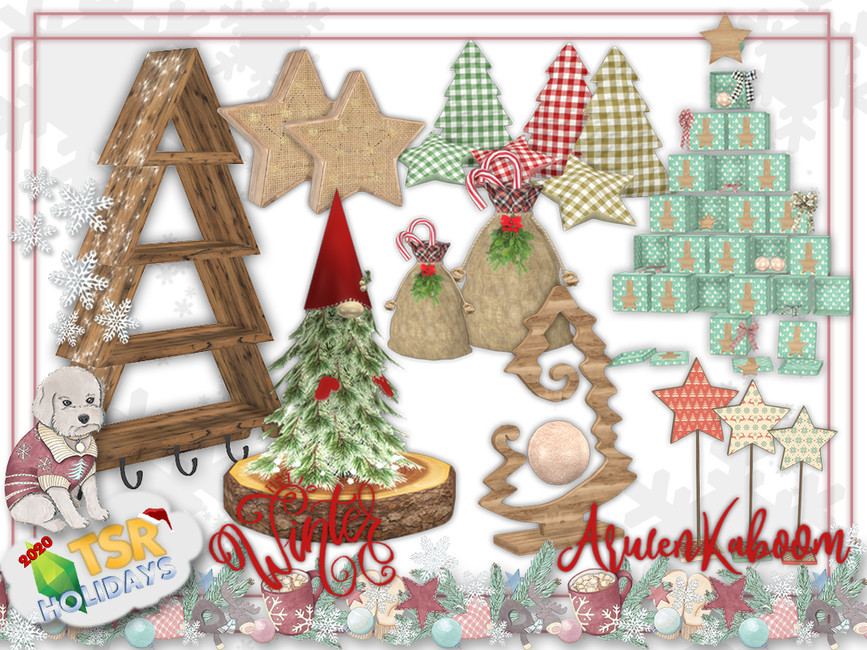 Моды Рождество для Симс 4