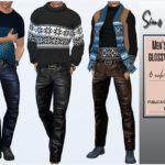 Мужские брюки для Симс 4