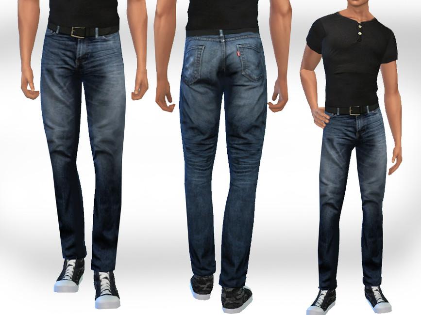 Мужские джинсы для Симс 4
