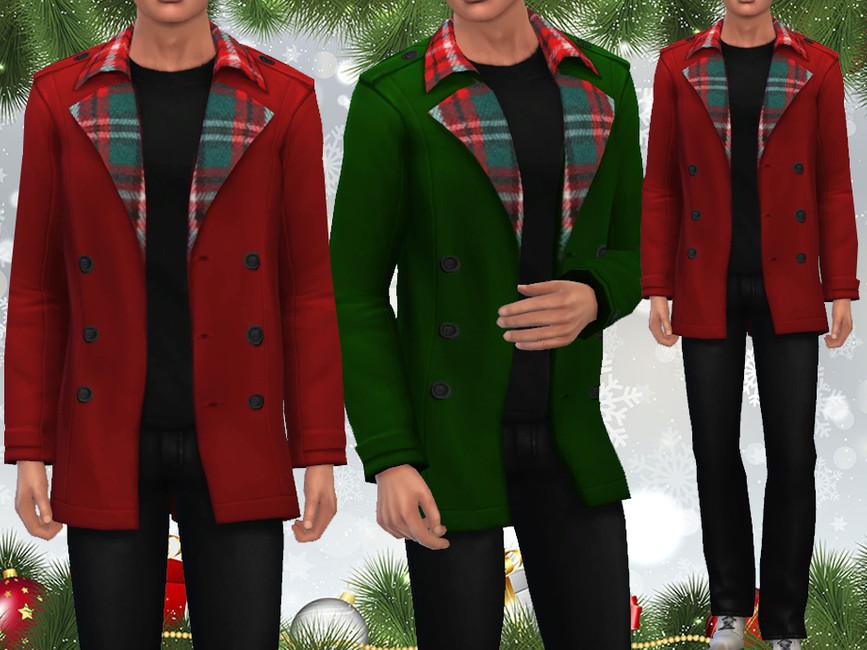 Мужские пальто Симс 4