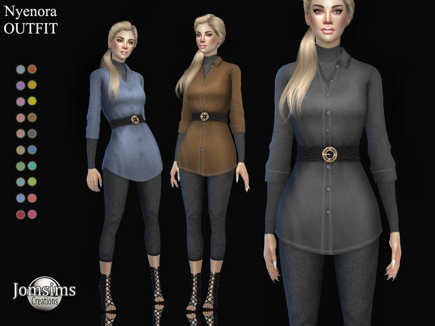Наряд Nyenora Outfit Симс 4