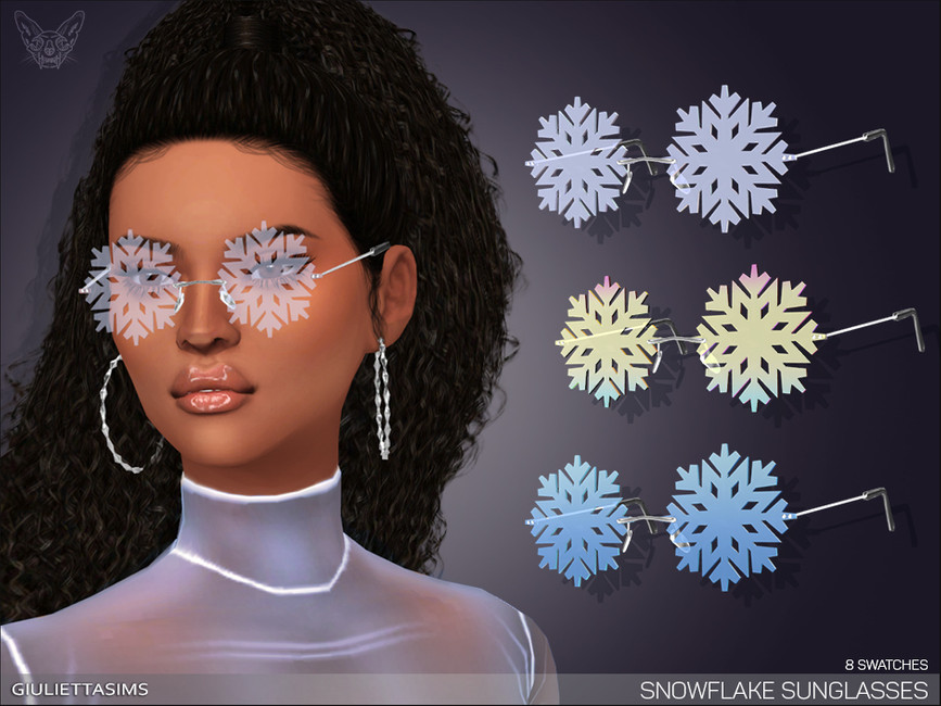 Очки Snowflake Glasses Симс 4