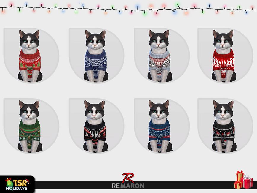 Одежда для кошек для Симс 4 (картинка 2)