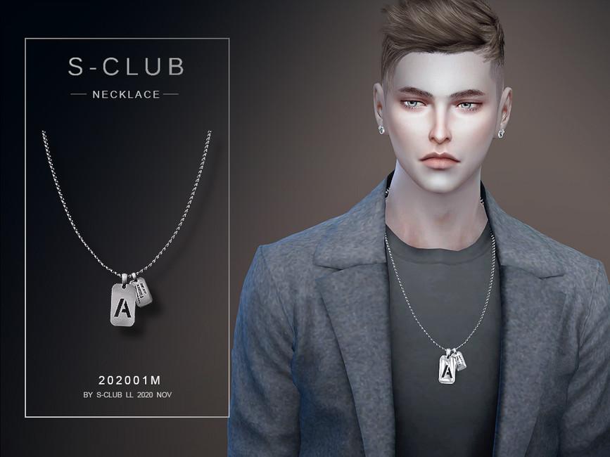 Ожерелье для мужчин Симс 4