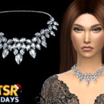 Ожерелье Winter Fairytale Necklace Симс 4