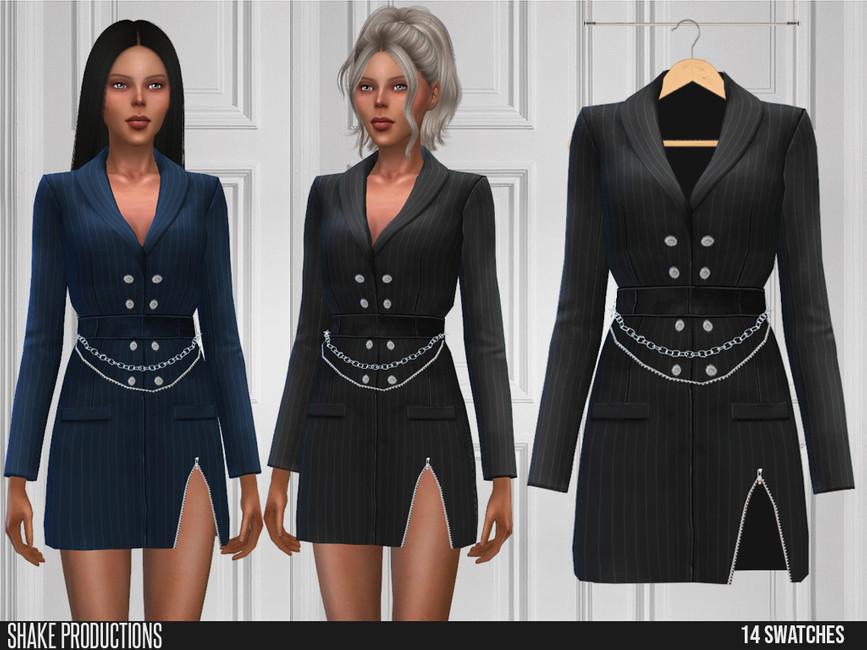 Платье 580 - Dress Симс 4