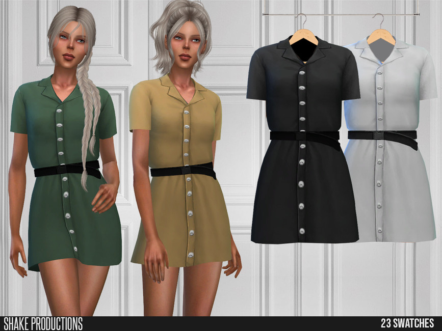 Платье 586 - Dress Симс 4