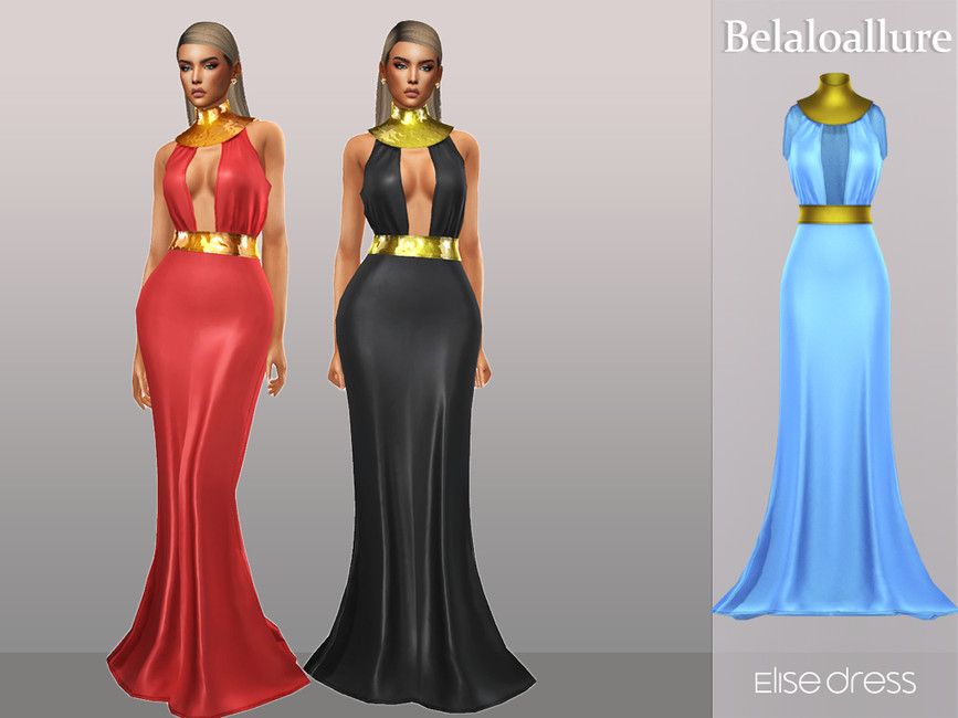 Платье Belaloallure_Elise dress Симс 4