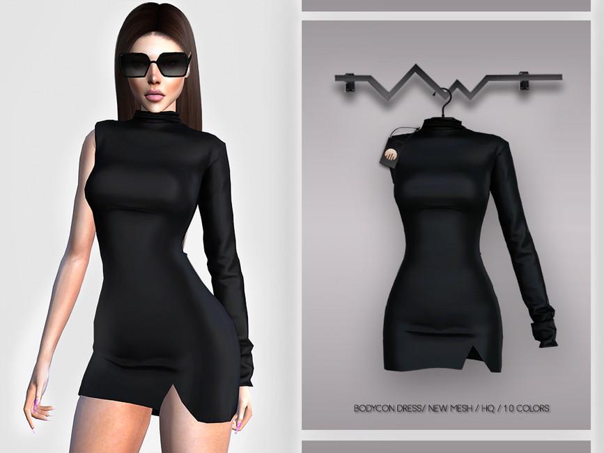 Платье Bodycon Dress BD374 Симс 4