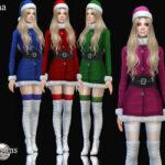 Платье Cknina Christmas Dress Симс 4