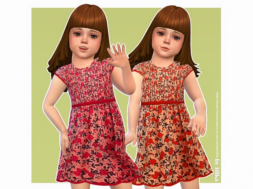 Платье для малышей Lulu Dress Симс 4