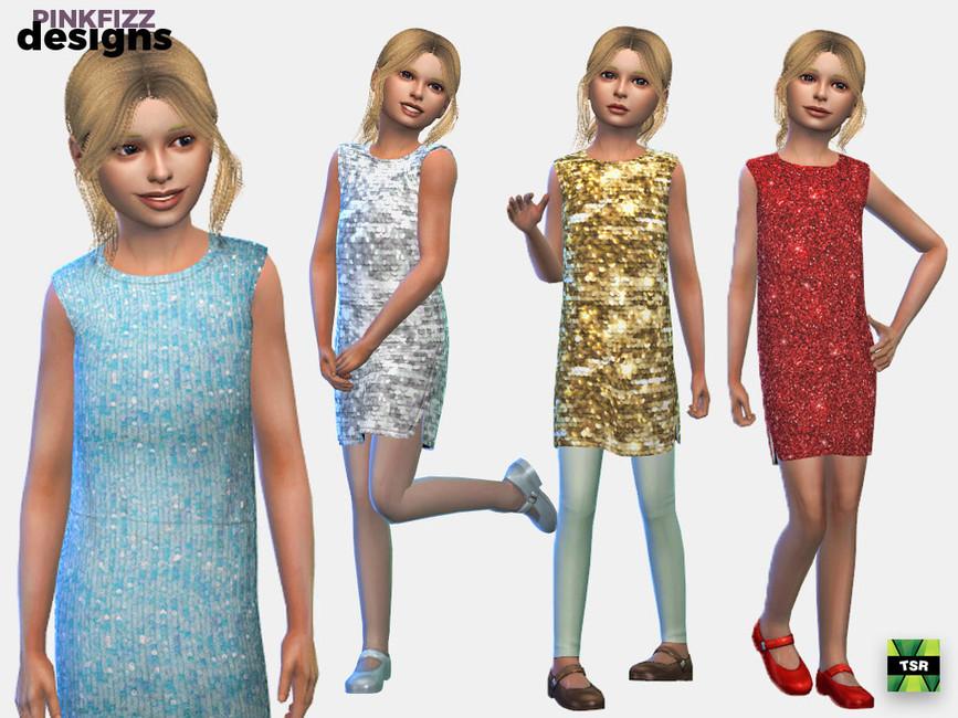 Платье для подростков Симс 4