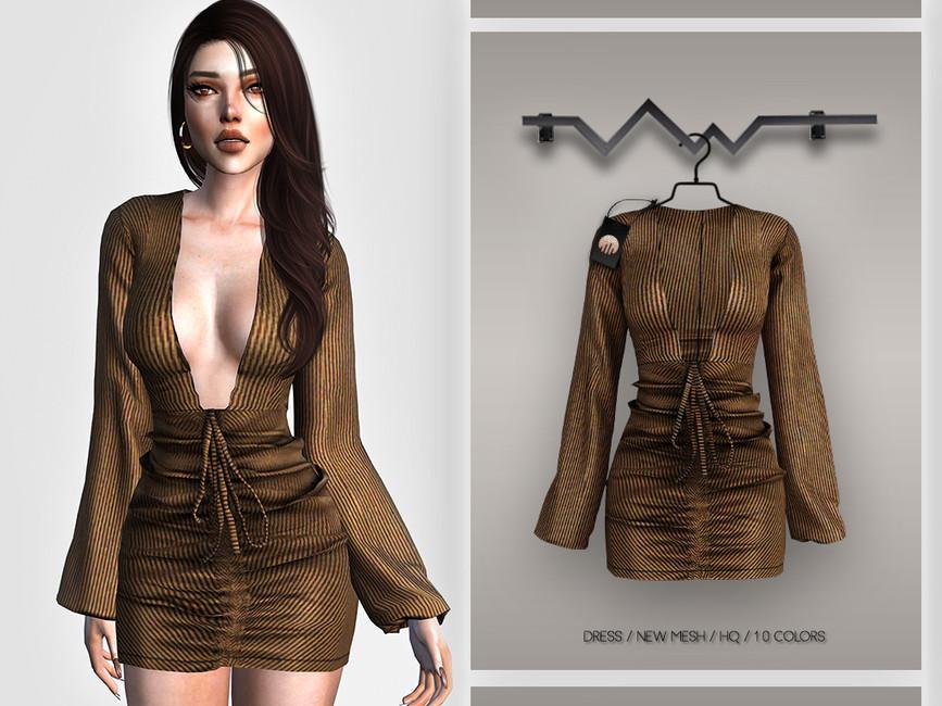 Платье Dress BD384 Симс 4
