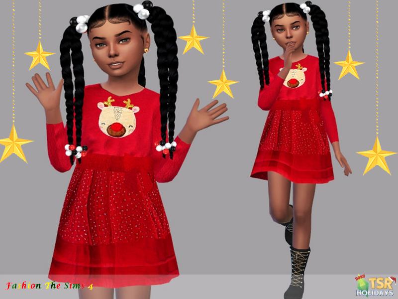 Платье Dress Child Anna Симс 4