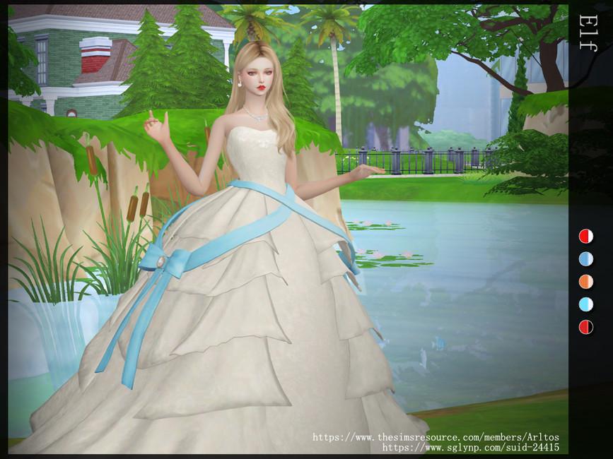 Платье Elf Симс 4