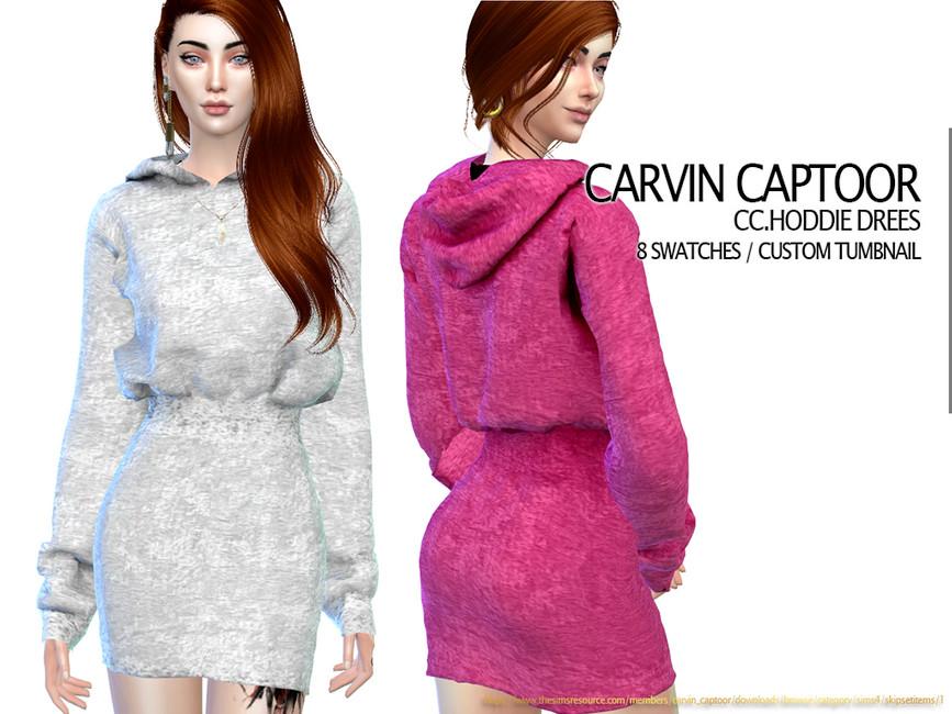 Платье Hoddie Dress Симс 4