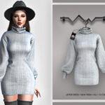 Платье Jumper Dress BD385 Симс 4