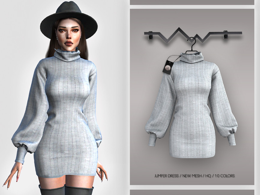 Платье Jumper Dress BD385 Симс 4