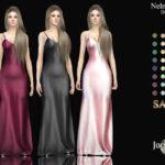 Платье Nelmnessia Satin Dress Симс 4