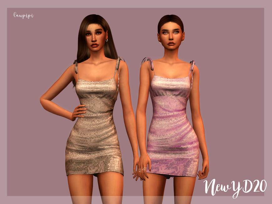 Платье New Year Dress - DR383 Симс 4